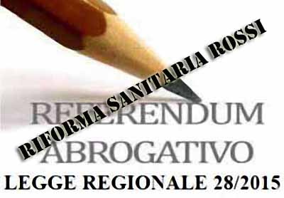 M5S ATTIVO PER IL REFERENDUM CONTRO LA RIFORMA SANITARIA DI ROSSI