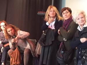 Anche l'attrice Angela Finocchiaro era presente all'incontro