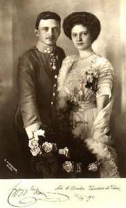 Carlo d'Asburgo e la consorte