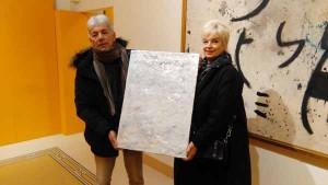 Marcella Donati con l'Assessore alla cultura Bruno Ialuna