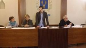 Durante la conferenza stampa