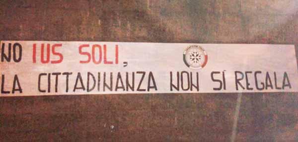 """IUS SOLI"", CASAPOUND LANCIA REFERENDUM ABROGATIVO"