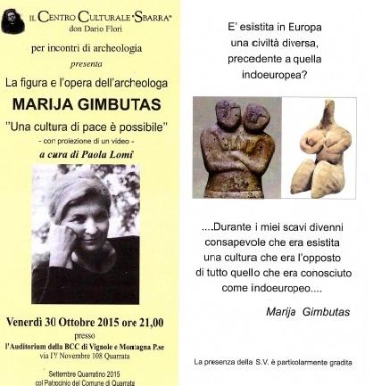 LA FIGURA E L'OPERA DI MARIJA GIMBUTAS