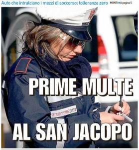 La Nazione, 10 ottobre 2015 - Multe al San Jacopo