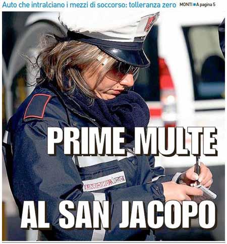 A BETTI NON PIACCIONO I BLITZ DEI VIGILI AL SAN JACOPO