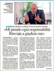 La Nazione, 11 ottobre 2015-Luigi Bardelli