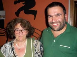 La cuoca Tiziana con Stefano Mazzeschi
