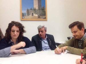 Margherita Semplici, Stefano Gallacci con il collega della Nazione