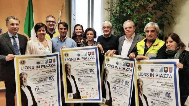 """""""LIONS IN PIAZZA"""", A MONTEMURLO LA GIORNATA PER LA PREVENZIONE SANITARIA"""