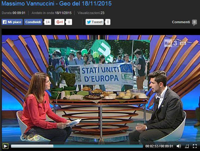 """VANNUCCINI A """"GEO"""" (RAI TRE): AGLIANA IN NOVE MINUTI (DI SILENZIO?)"""