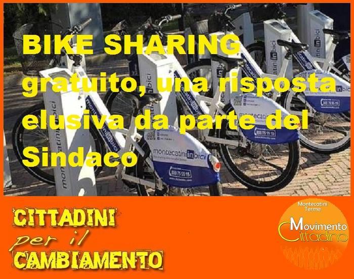 """bike sharing. LE PERPLESSITÀ DEL """"MOVIMENTO CITTADINO"""""""