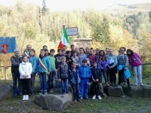 """Gli alunni al """"Piazzale del viandante"""""""