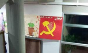 Falce e martello a scuola a Casalguidi