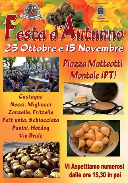 "CASTAGNE E FRITTELLE ALLA ""FESTA D'AUTUNNO"" MONTALESE"