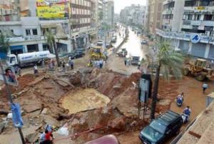 Beirut bombardata
