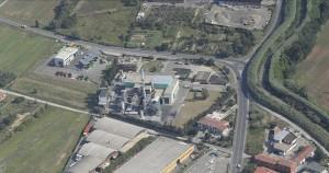 Foto aerea dell'inceneritore di Montale