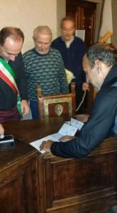 La firma delle credenziali a Cutigliano