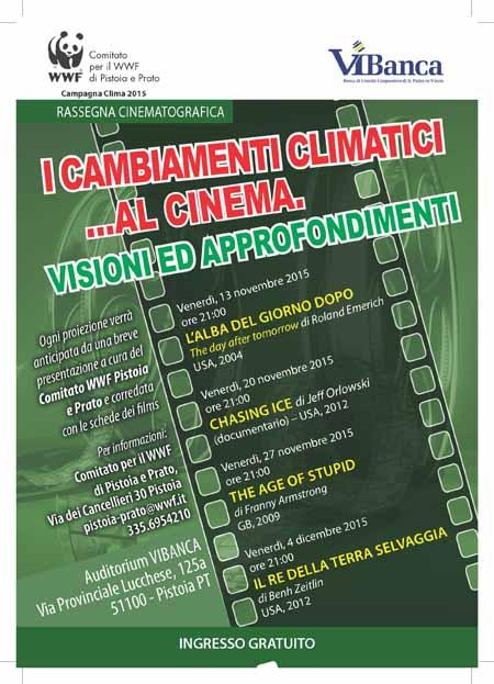 """CINEFORUM DEL WWF: """"I CAMBIAMENTI CLIMATICI AL CINEMA"""""""