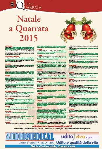 NATALE A QUARRATA 2015, LUMINARIE E APPUNTAMENTI
