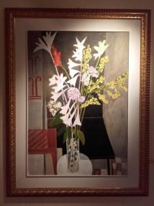 Uno dei quadri in mostra