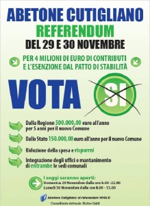 Volantino, vota sì