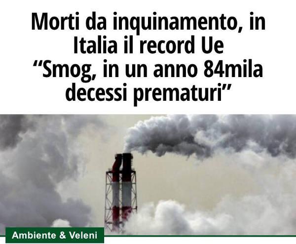 energia fossile. ASSORINNOVABILI: «ESTERNALITÀ INSOSTENIBILI PER L'ECONOMIA E LA SALUTE»
