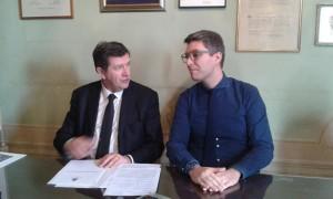 Il sindaco Martini e il vice Puggelli