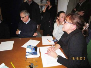 4 La Presidente Salaris propone di votare per le domande di Ciottoli.