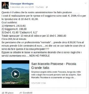 Da Facebook di Giuseppe Montagna