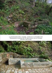 La Fontanina dell'Amore, prima e dopo il restauro a Fornaci di Barga