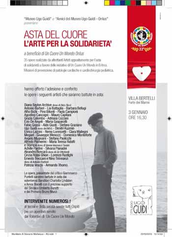 """""""UN CUORE, UN MONDO ONLUS"""", ASTA DI BENEFICENZA"""