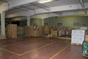 Il magazzino dell'Emporio della Solidarietà