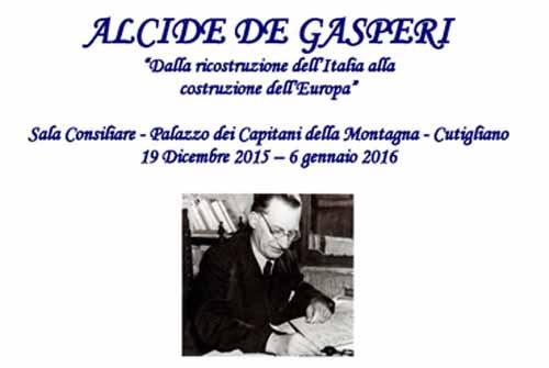 MOSTRA DEDICATA AD ALCIDE DE GASPERI, UNO DEI PADRI D'EUROPA