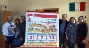 La presentazione dell'edizione 2016 del Carnevale a Valenzatico e Catena
