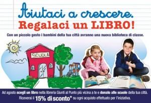 Si distribuiscono i libri alle scuole del territorio