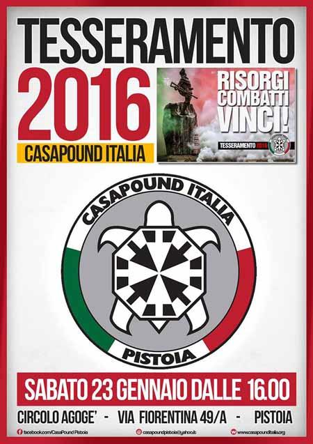 CASAPOUND ITALIA: PARTONO LE ISCRIZIONI 2016