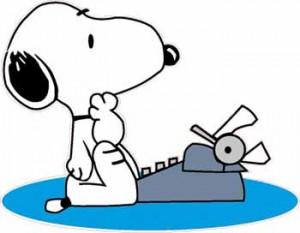 Snoopy che scrive