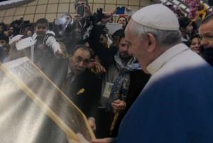 Foto di Muharem Hadzovic con Papa Francesco