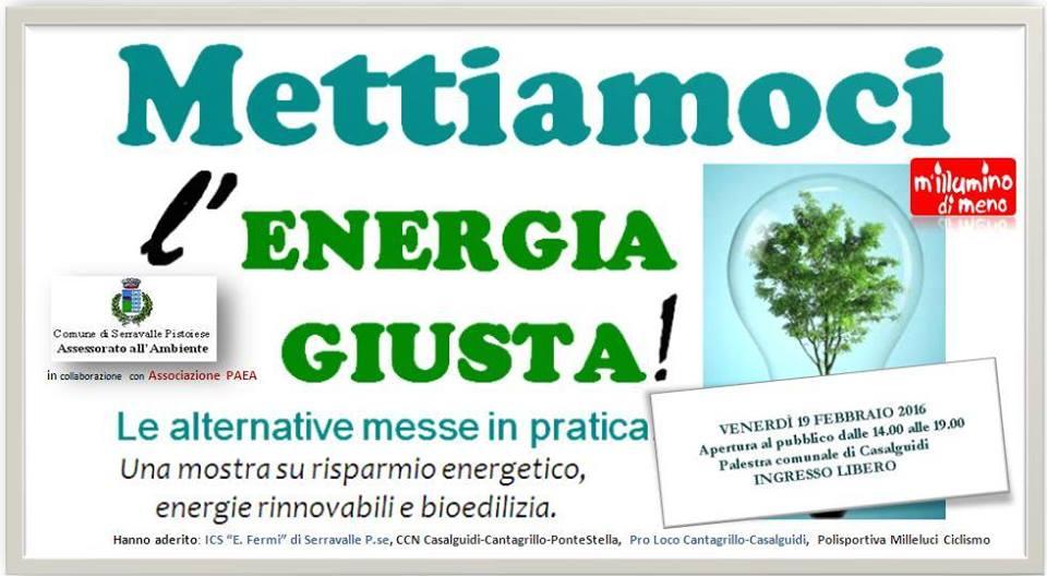 serravalle. «METTIAMOCI L'ENERGIA GIUSTA!»