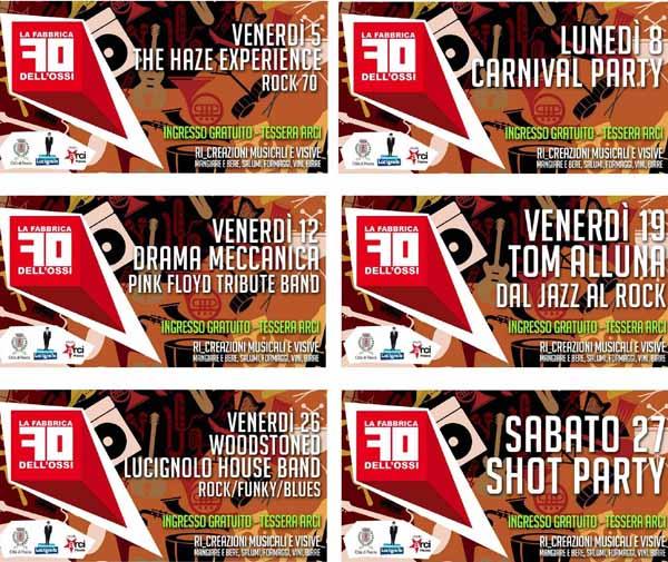 pescia. FEBBRAIO LIVE MUSIC ALLA FABBRICA DELL'OSSI