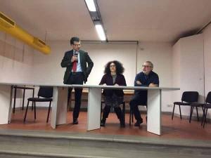 Il Sindaco di Vinci con la professoressa Poli e Saragosa