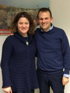 Lisa Amidei con Marco Niccolai