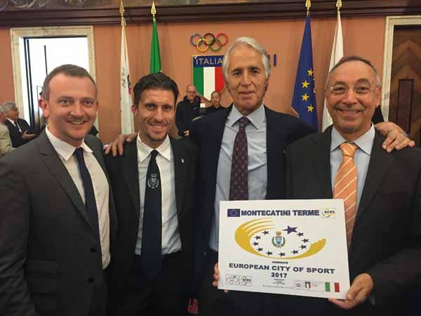 """montecatini. PROSEGUE LA CANDIDATURA A """"COMUNE EUROPEO DELLO SPORT 2017"""""""