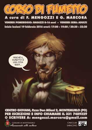 comics. A MONTEMURLO TORNA IL CORSO DI FUMETTO