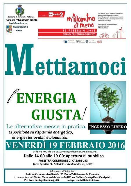 """serravalle. """"METTIAMOCI L'ENERGIA GIUSTA!"""""""