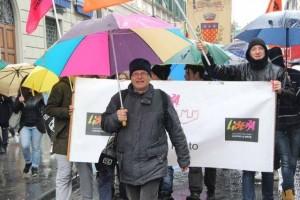 Prato. La marcia per le vie della città