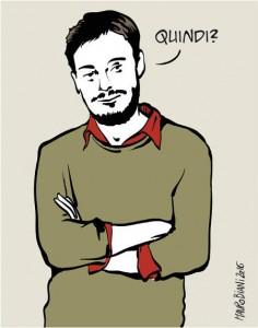 Giulio Regeni in una vignetta di Mauro Biani