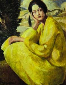F. Chiappelli, Donna in giallo, 1926, Pistoia, Museo Civico