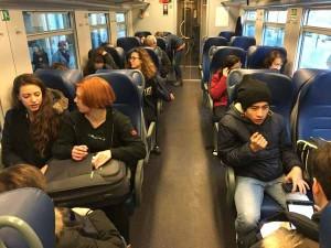Gli studenti in treno