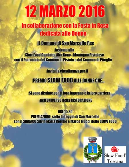 RICONOSCIMENTO SLOW FOOD A TRE DONNE